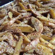 pikante Kartoffelecken mit Sesam und Schwarzkümmel