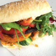 BBQ-Burger mit Kürbis und Tofu
