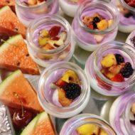 Sojajoghurt mit Früchten
