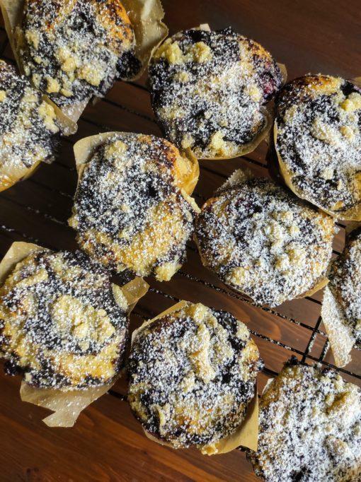 Blaubeer Muffin mit Streuseln